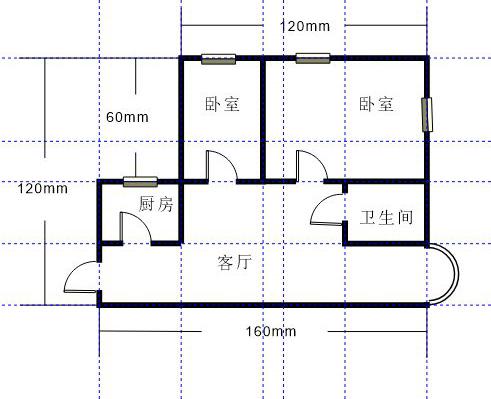 图1:公寓平面图