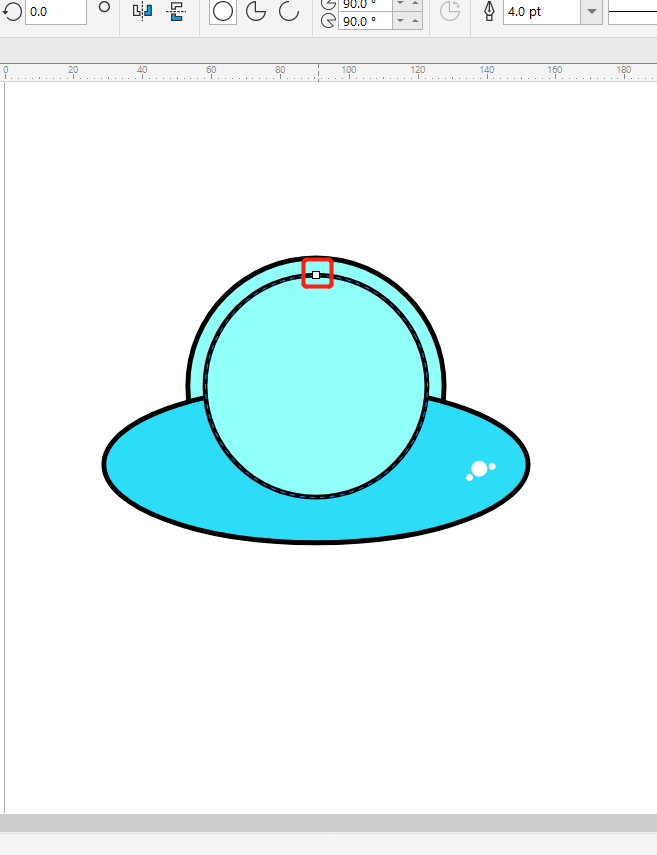 图4:白色方块位置
