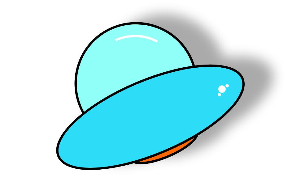 图9:飞行中的UFO