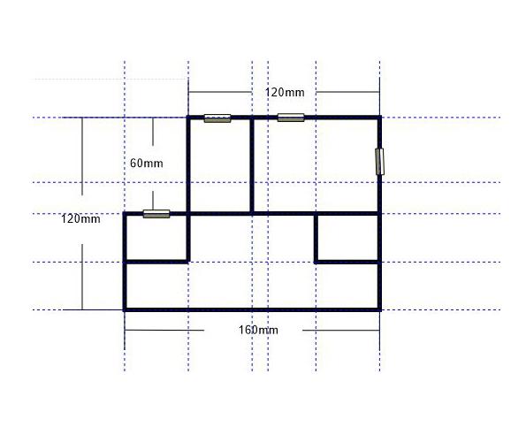 图1:公寓平面图(框架)