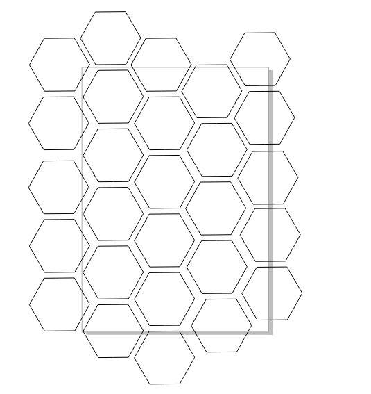 图4:完成六边形的拼接