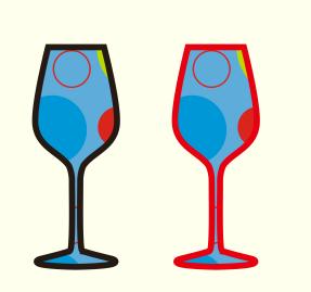 调色板填充杯子