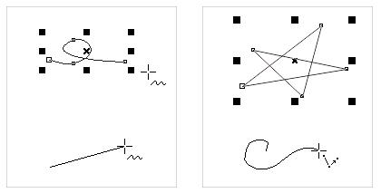 手绘工具和折线工具