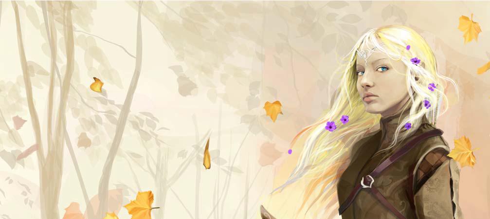 CorelDRAW绘制的优秀人物肖像插画作品