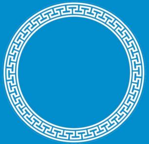 CDR圆形花纹矢量图
