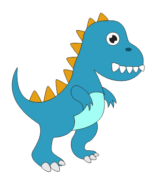 CDR画恐龙