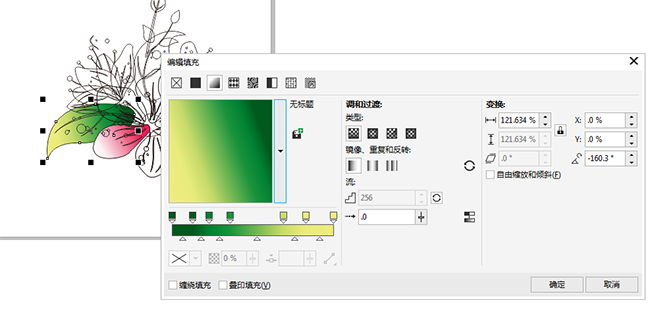 CDR画桃花