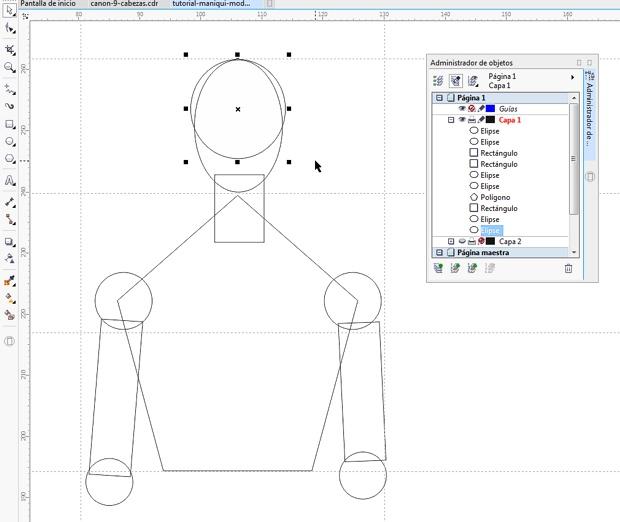 CDR几何模特