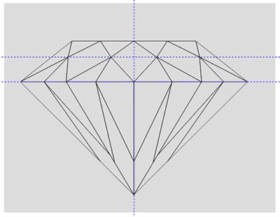 CDR画钻石