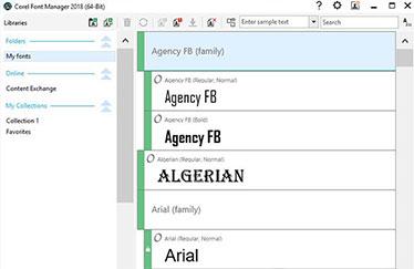 Corel Font Manager™