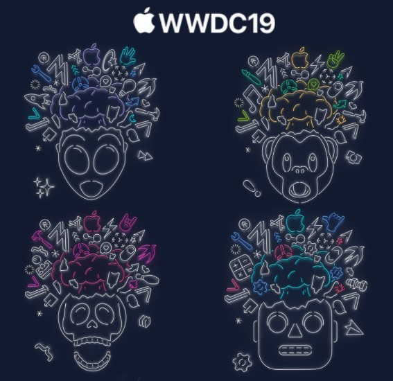 WWDC19邀请函上多样图案