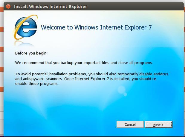 Install Windows Internet Explorer
