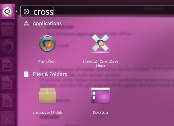 查找CrossOver Linux