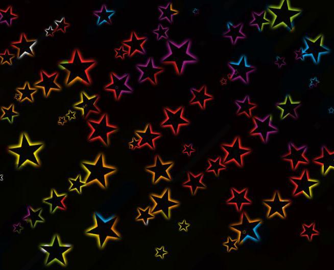 图1:发光的星星