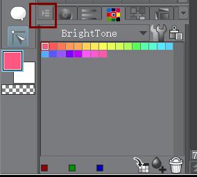 色板菜单按钮