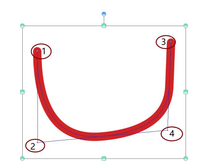 4点二次贝兹曲线