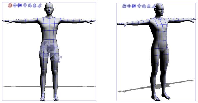 更改3D素描人偶视点