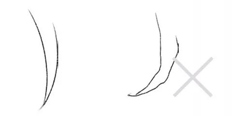 绘制头发线条