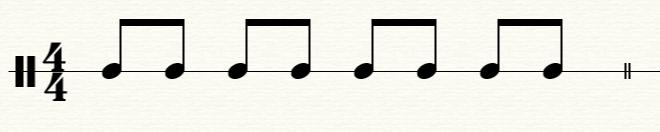 连接后的八分音符