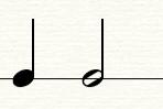 图2:四分音符和二分音符
