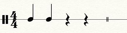 带有休止符的简单节拍