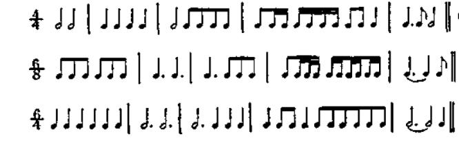复拍子组合音群示例