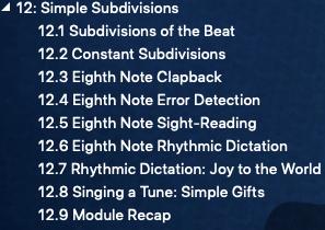 "练耳大师英文版中的""12.Simple Subdivisions"""