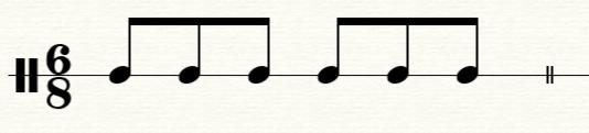 经典的八六拍节奏