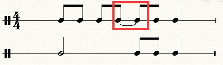 五线谱中的延音线