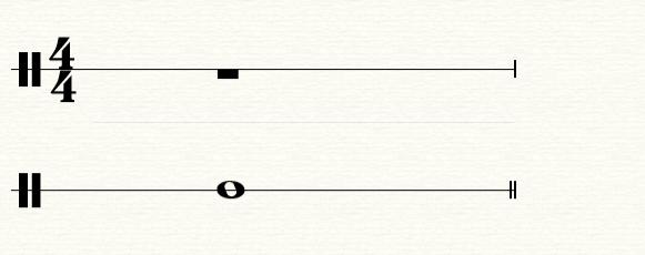 图2:全音符和全休止符