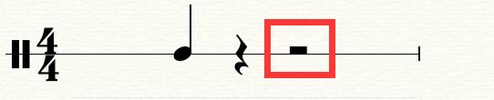 图3:二分休止符示意