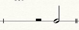图1:二分休止符和二分音符