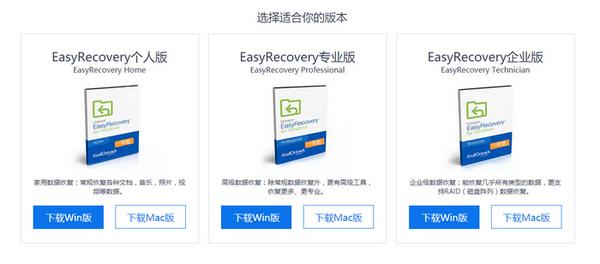EasyRecovery软件的版本分类