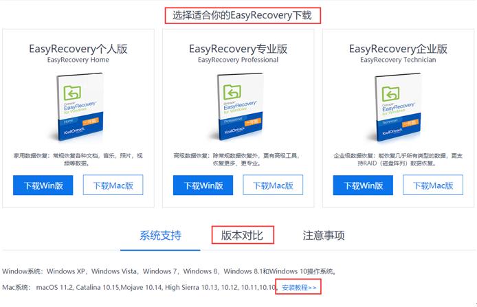 图1:下载EasyRecovery