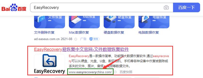 图片1:查找EasyRecovery网站