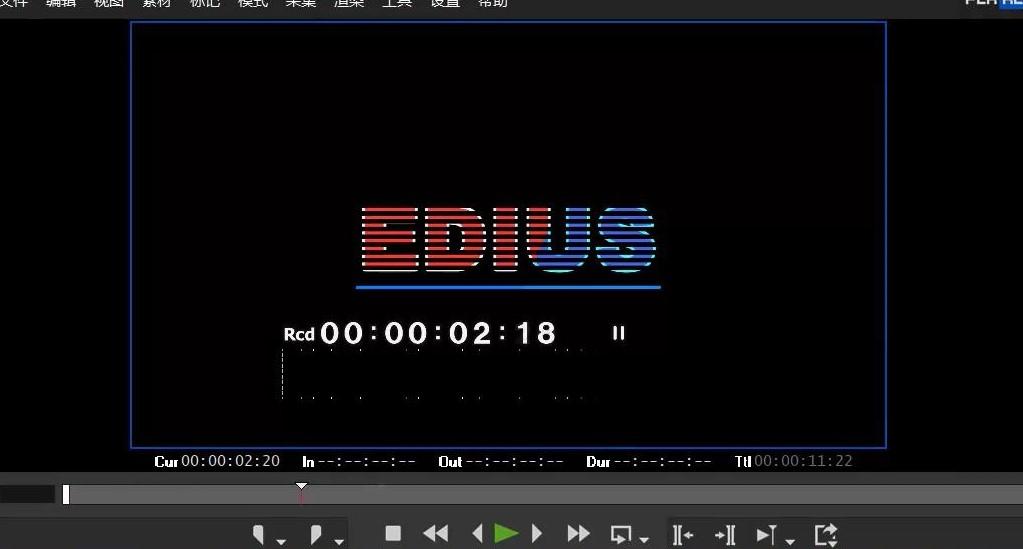 如何使用非线性编辑软件EDIUS制作条纹字效果