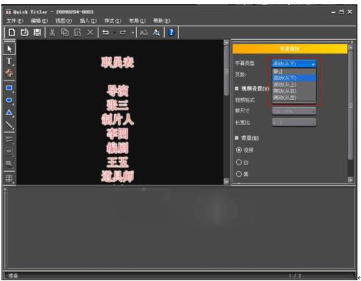 设置字幕类型