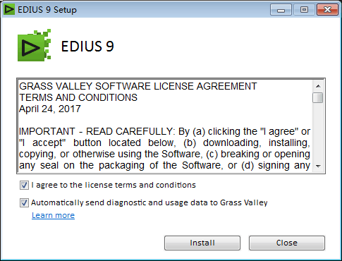EDIUS Pro 9安装教程
