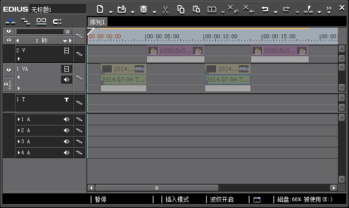 EDIUS视频条全变灰色编辑不了怎么办?