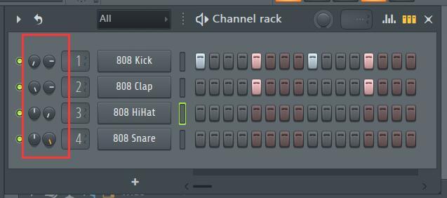 声像和音量旋钮使用示例