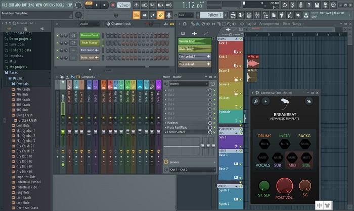 FL Studio 20界面