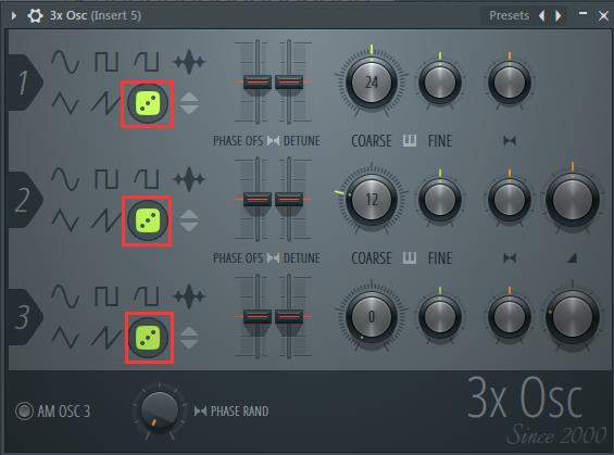 使用3XOSC插件捏造白噪音