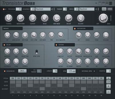 Transistor Bass主界面