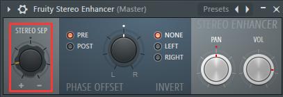 Fruity Stereo Enhancer的应用举例