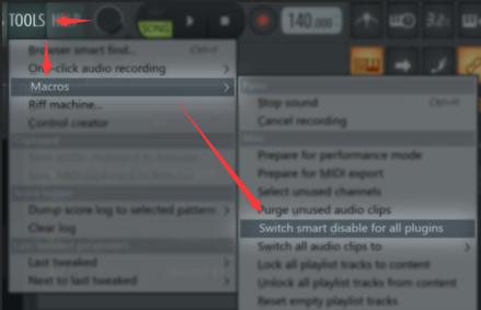 忽略未使用的音源菜单按钮