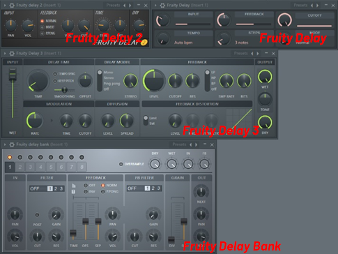 FL Studio的4款延迟插件