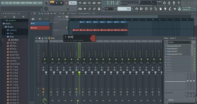 混音器初始界面