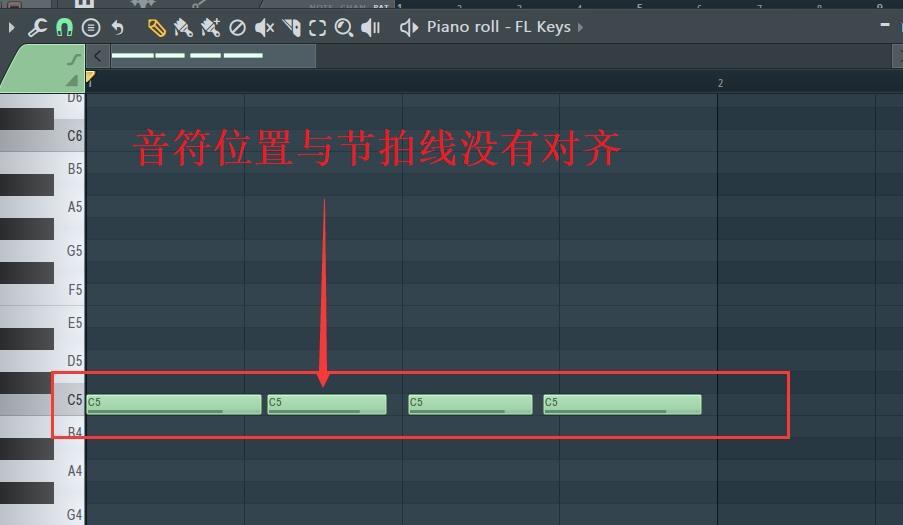 输入音符到钢琴卷轴