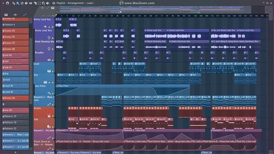 FL Studio丰富的界面