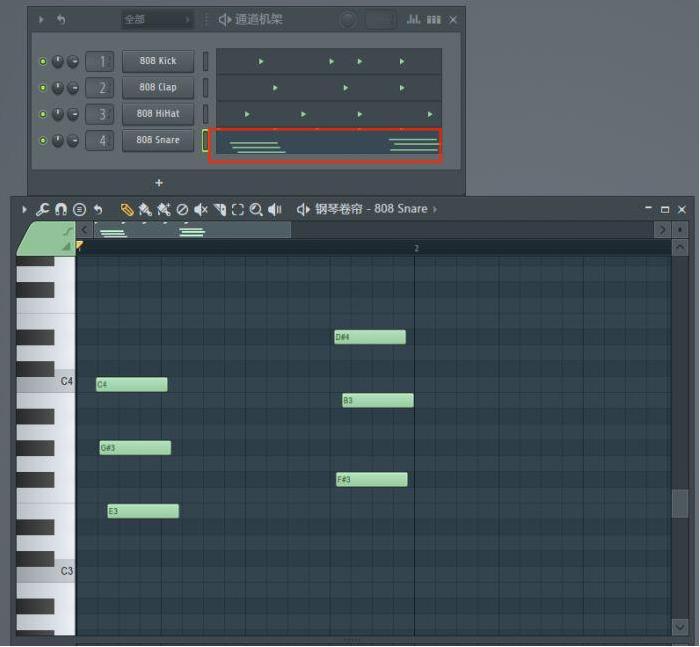 制作完成的步进音序器